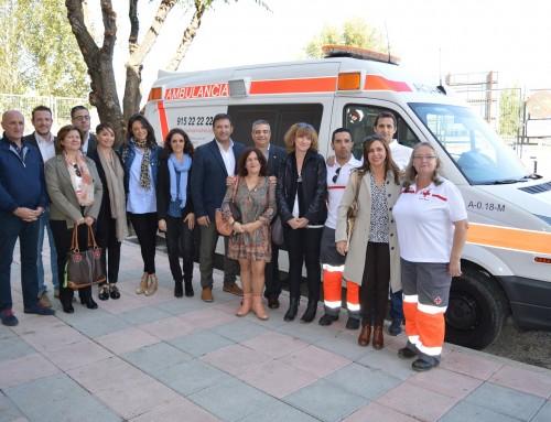 José Antonio Sánchez visita las instalaciones renovadas de la Base de Cruz Roja Fuenlabrada-Humanes de Madrid