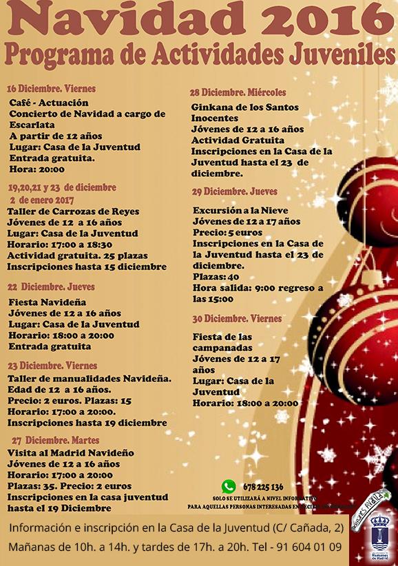 Gran variedad de actividades durante la Navidad para los jóvenes de ...