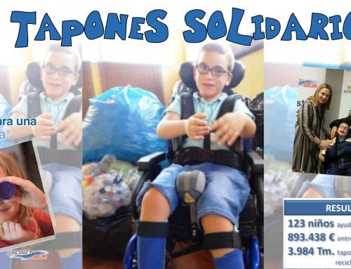 """""""Tapones para Joel"""": Objetivo conseguido gracias a las más de 38 toneladas de tapones de plástico solidarios"""