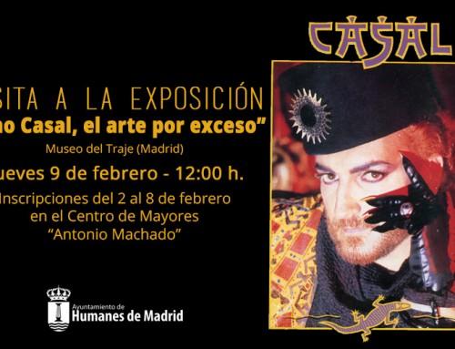"""Los mayores de Humanes visitarán el 9 de febrero la exposición """"Tino Casal, el arte por exceso"""", en el madrileño Museo del Traje"""
