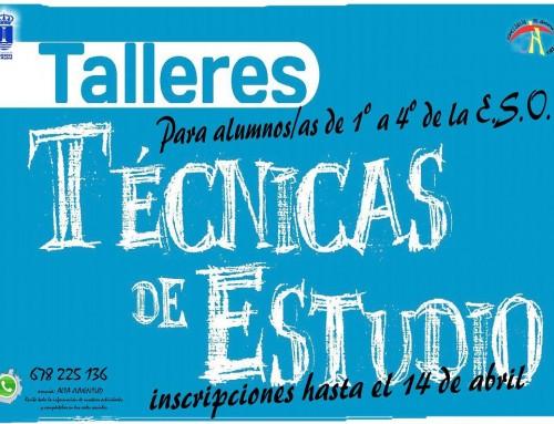 """Inscripciones abiertas para el Taller de """"Técnicas de estudio y habilidades sociales"""" para alumnos de 1º a 4º de la E.S.O."""