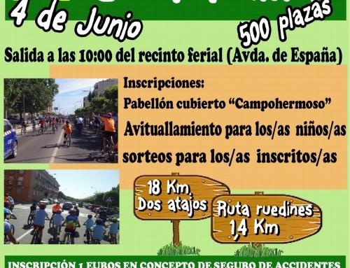 Apúntate ya a la IV Fiesta de la Bici en Familia, que se celebrará el 4 de junio