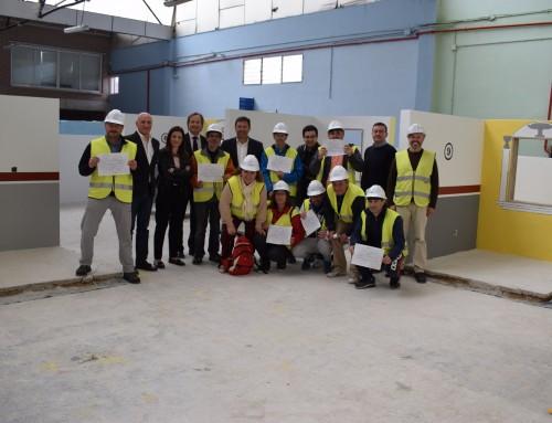 José Antonio Sánchez visita a los alumnos-trabajadores del Programa de Cualificación Profesional al finalizar su periodo de formación