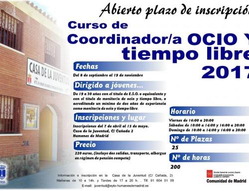 """Inscripciones abiertas para el Curso de """"Coordinador de ocio y tiempo libre"""""""