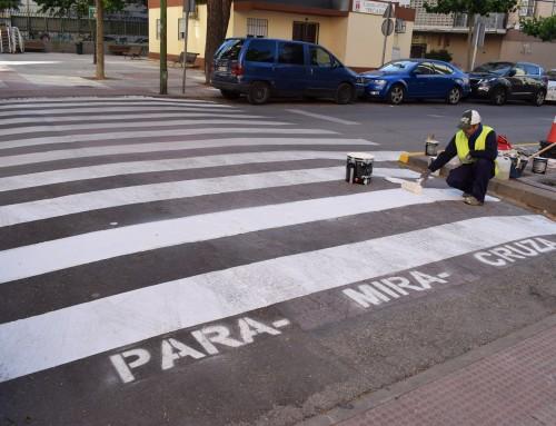 En marcha diversas mejoras en la señalización vial y aceras de Humanes de Madrid