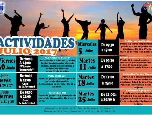 Ocio y diversión saludable durante el mes de julio para los jóvenes de Humanes de Madrid