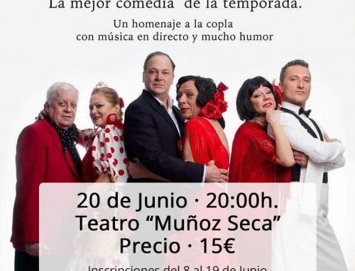 """El próximo 20 de junio, salida al teatro para ver la comedia """"En el Café de Chinitas"""""""