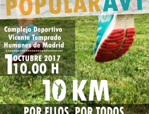 Inscripciones abiertas para la Carrera Popular de la Asociación Víctimas del Terrorismo que se celebrará el 1 de octubre en Humanes de Madrid
