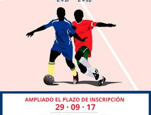 Se amplía hasta el 29 de septiembre el plazo de inscripción en la Liga Local de Fútbol Sala 2017-2018