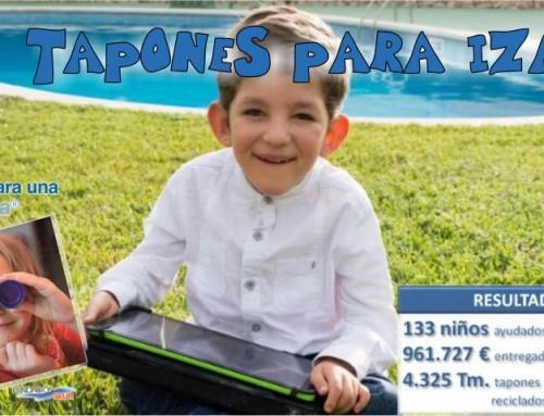 """Nueva campaña solidaria: """"Tapones para Izan"""""""
