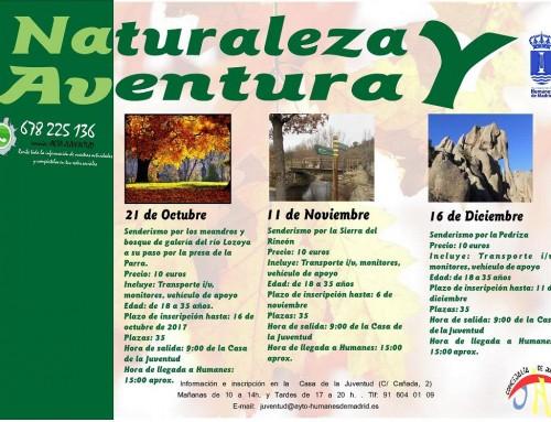Excursiones para jóvenes por entornos naturales de la Comunidad de Madrid