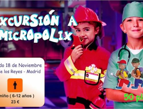 El 18 de noviembre, excursión a Micrópolix, la ciudad de los niños