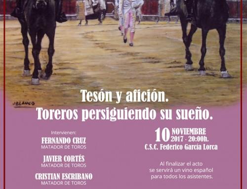 """""""Tesón y afición. Toreros persiguiendo su sueño"""" será el tema de las VIII Jornadas Taurinas de Humanes de Madrid, el próximo 10 de noviembre"""