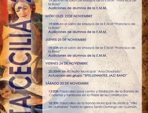 Del 21 al 25 de noviembre, Humanes de Madrid celebra la Semana de la Música en honor a Santa Cecilia