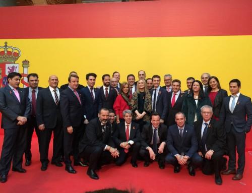 José Antonio Sánchez asiste al acto de homenaje a la Constitución Española
