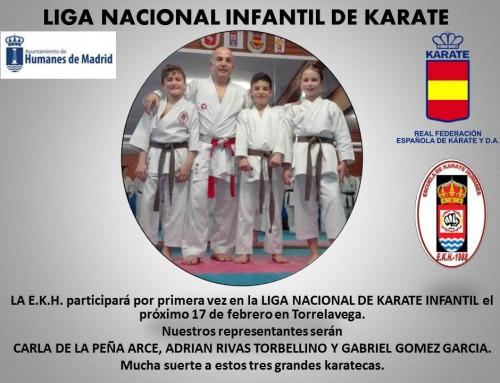 Varios alumnos de la Escuela de Karate Humanes participarán en la Liga Nacional de Karate Infantil