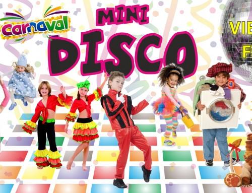 """Este viernes, nueva edición de la Mini-Disco """"Carnaval"""" para los niños de Humanes de Madrid"""