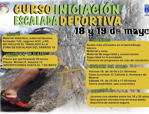 Inscripciones abiertas para el curso de iniciación a la escalada deportiva