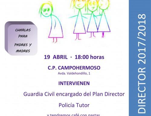 El 19 de abril, charla sobre nuevas tecnologías y acoso escolar, dirigida a los padres de todos los alumnos de Humanes de Madrid