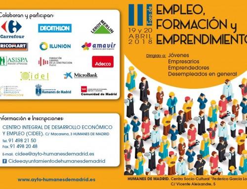 19 y 20 de abril: III Foro de Empleo, Formación y Emprendimiento en Humanes de Madrid