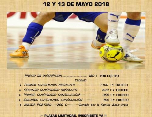 """Abiertas las inscripciones para participar en el XXXIII Maratón de Fútbol-Sala """"Emilio Zazo"""", que se celebrará los días 12 y 13 de mayo"""