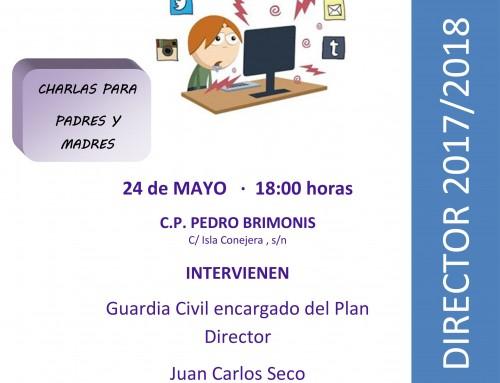 El 24 de mayo, charla sobre redes sociales, dirigida a los padres de todos los alumnos de Humanes de Madrid