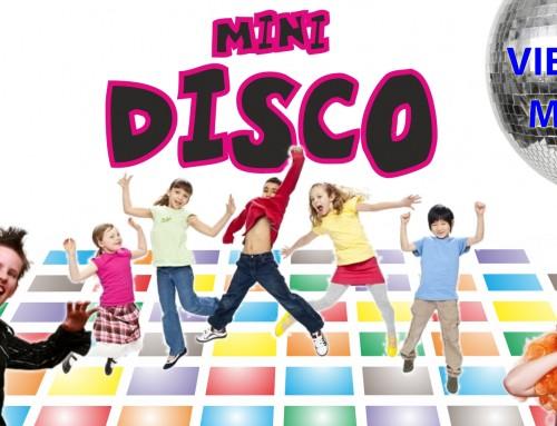 """Este viernes """"Minidisco"""" para los más pequeños de la localidad"""
