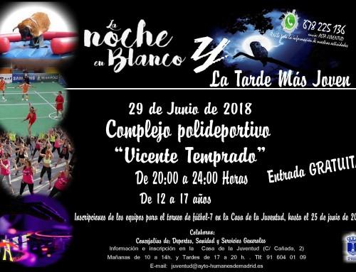 """29 de junio: segunda edición de """"La noche en blanco"""" y """"La tarde más joven"""""""