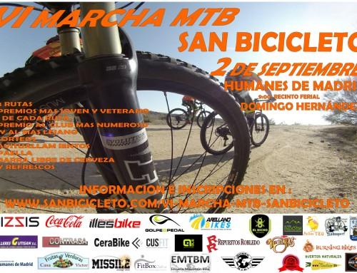 """Hasta el 26 de agosto, abiertas las inscripciones para la VI Marcha MTB Cicloturista """"San Bicicleto"""""""
