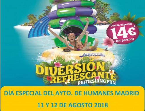 11 y 12 de agosto, días especiales de Humanes de Madrid en Aquopolis