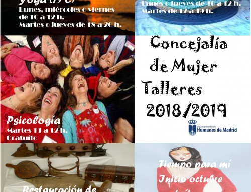 Inscripciones abiertas para los diversos talleres que ofrece la Concejalía de Mujer e Igualdad