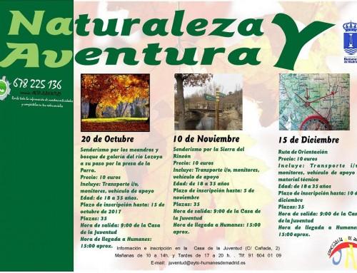Próximas excursiones para los jóvenes humanenses por los entornos naturales de la Comunidad de Madrid