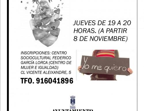 Desde el 8 de noviembre, también por la tarde, el Taller de Psicología organizado por la Concejalía de Mujer e Igualdad