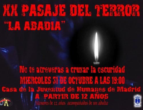 El 31 de octubre, la Casa de la Juventud acogerá el XX Pasaje del Terror de Humanes de Madrid