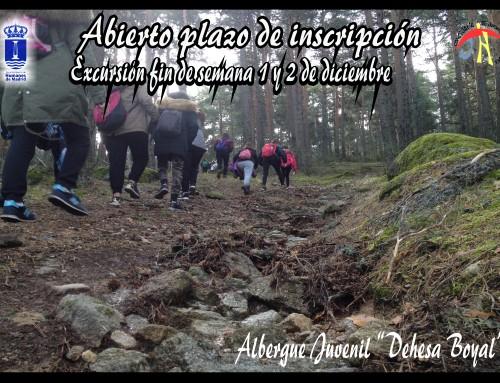 """1 y 2 de diciembre: Excursión de fin de semana al albergue juvenil """"Dehesa Boyal"""" en Los Yébenes (Toledo)"""