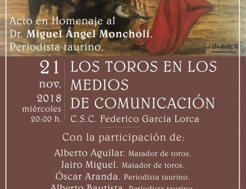 """""""Los toros en los medios de comunicación"""" será el tema de las IX Jornadas Taurinas de Humanes de Madrid, el próximo 21 de noviembre"""