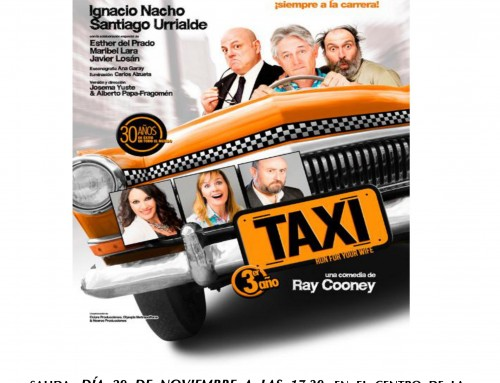 """Inscripciones abiertas para ver la comedia """"Taxi"""" en el madrileño Teatro Maravillas"""