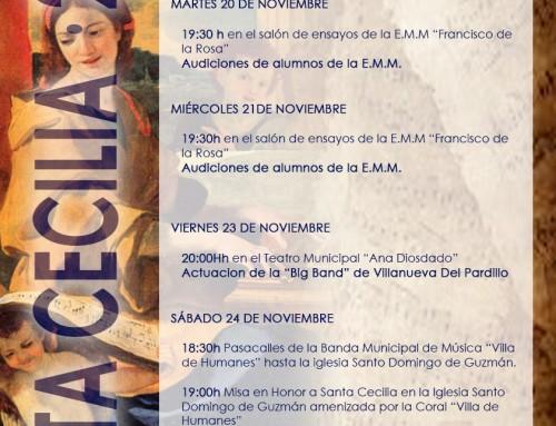 Del 20 al 24 de noviembre, Humanes de Madrid celebra la Semana de la Música en honor a Santa Cecilia
