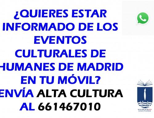Todos los eventos culturales de Humanes, en tu móvil