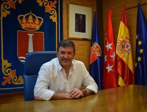 José Antonio Sánchez reclamará medidas urgentes de seguridad a la Delegación del Gobierno, tras la quema de cuatro vehículos  en Humanes de Madrid