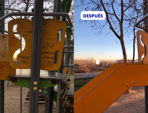 """""""Campaña de limpieza de grafitis en juegos infantiles"""", dentro del Plan Integral de Limpieza y Mejoras de Humanes de Madrid"""