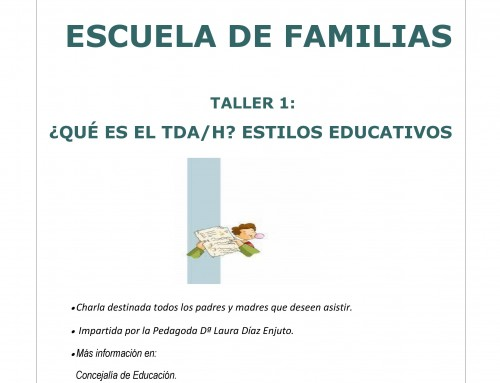"""El 1 de febrero se impartirá el primer taller de la nueva """"Escuela de Familias"""""""