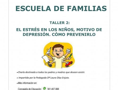 """El 21 de febrero se impartirá el segundo taller de la nueva """"Escuela de Familias"""""""