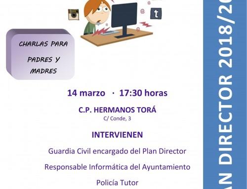 """El 14 de marzo, charla sobre """"Adicción a las redes sociales y su riesgo"""" dirigida a los padres de todos los alumnos de Humanes de Madrid"""