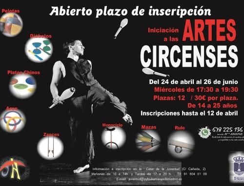 Inscripciones abiertas para el curso de iniciación a las Artes Circenses