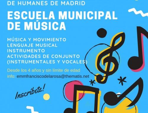 """Abierto el plazo de matriculación en la Escuela Municipal de Música """"Francisco de la Rosa"""" para el curso 2019-2020"""