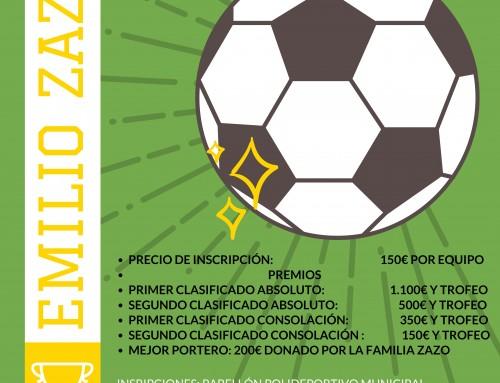 """Abiertas las inscripciones para participar en el XXXIV Maratón de Fútbol-Sala """"Emilio Zazo"""", que se celebrará los días 11 y 12 de mayo"""