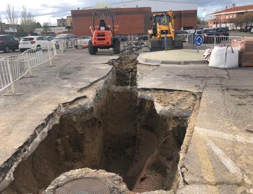 En marcha las obras de mejora de la Estación de Bombeo de Aguas Residuales en el entorno del Pabellón Deportivo «Campohermoso»