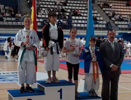 Alba Gutiérrez Sánchez, alumna de la Escuela de Karate Humanes, tercer puesto en Kata Mixto Infantil