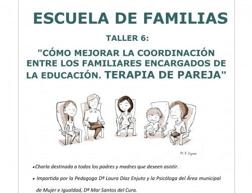 El 12 de junio se impartirá el sexto taller de la nueva «Escuela de familias»: «Cómo mejorar la coordinación entre los familiares encargados de la educación»